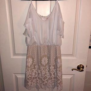 Francesca's white/cream lace dress